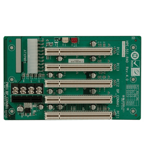 HPE-5S1 5-slot backplane with four PCI slots