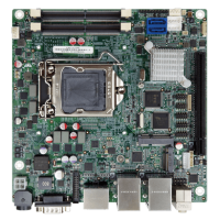 KINO-DH310 Mini-ITX SBC supports 14nm LGA1151 Intel® 8th Generation Core™ i7/i5/i3, Celeron® and Pentium® processor, DDR4, dual independent displays, dual GbE LAN, M.2, SATA 6Gb/s, HD Audio and RoHS