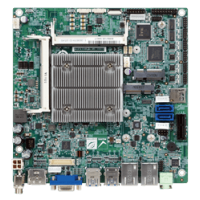 tKINO-BW Thin Mini-ITX SBC supports 14nm Intel® Pentium®/Celeron® on-board SoC